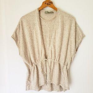 Zara Angora Blend Lightweight Sweater Oatmeal Sz S